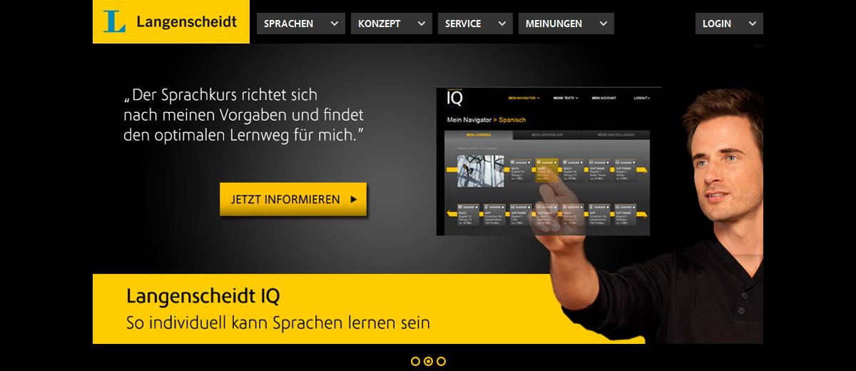 Projekte - Langenscheidt IQ Responsive - Wirth & Horn Informationssysteme