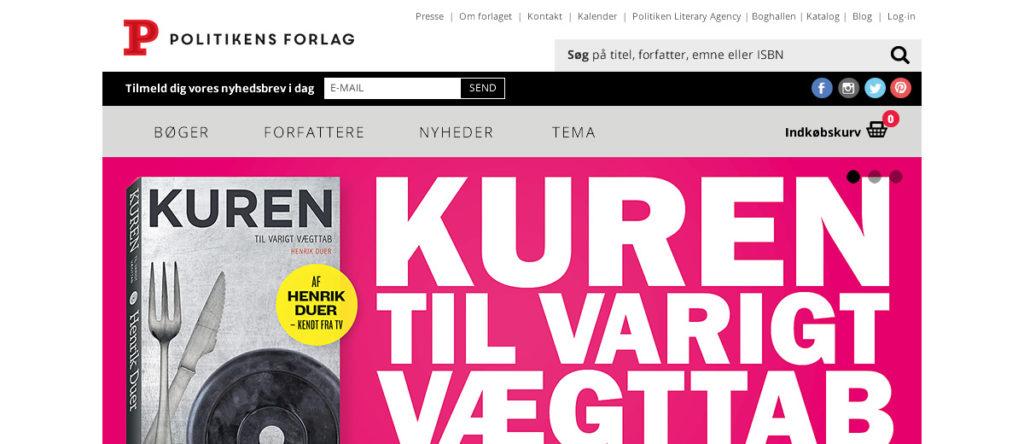 Projekte - Politikens Forlag - Wirth & Horn Informationssysteme