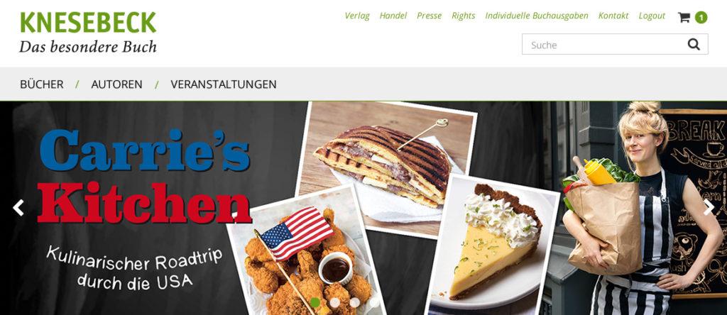Projekte - Knesebeck Verlag - Responsiver Ralaunch - Wirth & Horn Informationssysteme