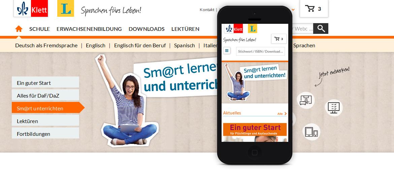 Projekte - Klett Sprachen - Responsive Relaunch - Wirth & Horn Informationssysteme