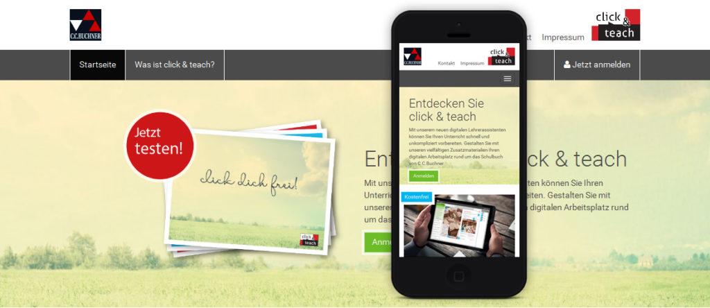 Projekte - click & teach - C. C. Buchner Verlag - Donwload Shop - Wirth & Horn Informationssysteme