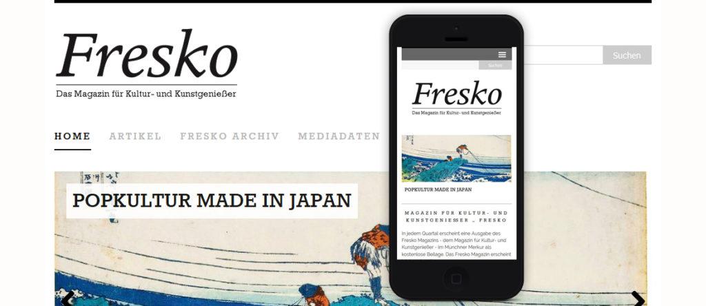 Projekte - Fresko Magazin Internetpräsenz Wordpress - Wirth & Horn Informationssysteme