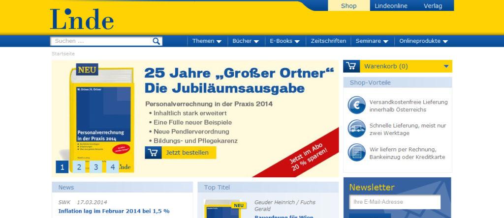 Projekte - Linde Verlag Webshop - Wirth & Horn Informationssysteme