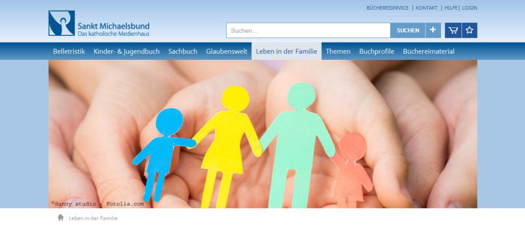 Projekte - Sankt Michaelsbund Webshop und Internetpräsenz - Wirth & Horn Informationssysteme
