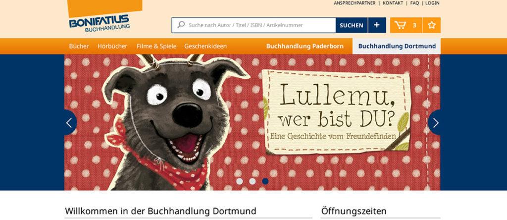 Projekte - Bonifatius Verlag - Webshop Internetpräsenz - Wirth & Horn Informationssysteme