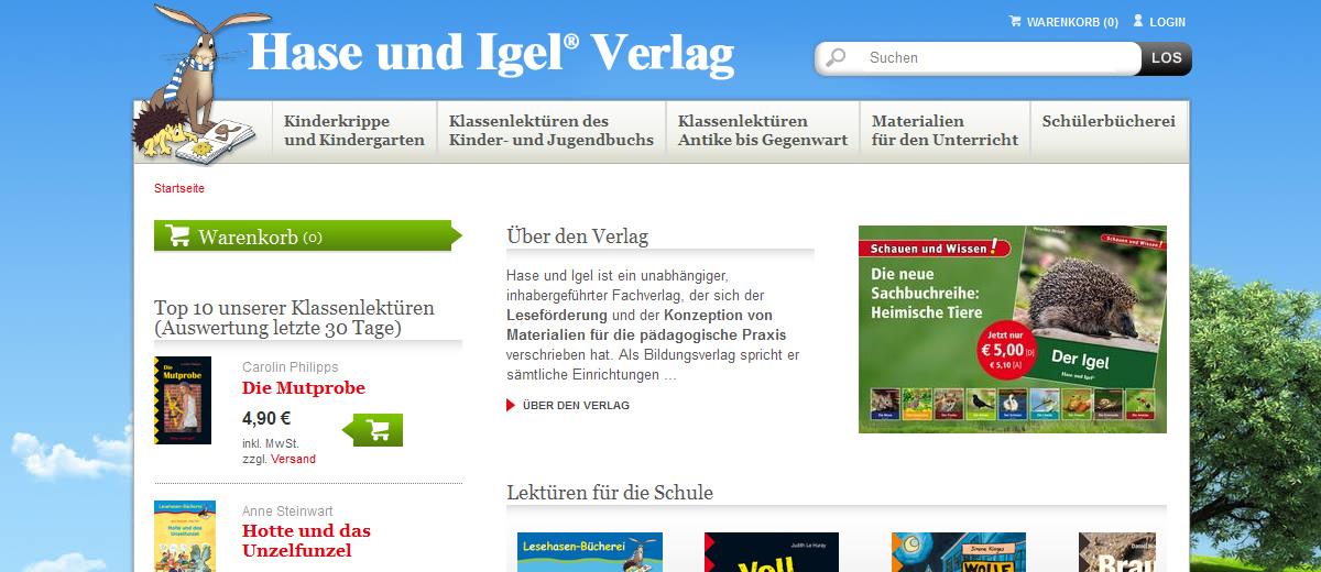 Projekte - Hase und Igel - Webshop Internetpräsenz - Wirth & Horn Informationssysteme