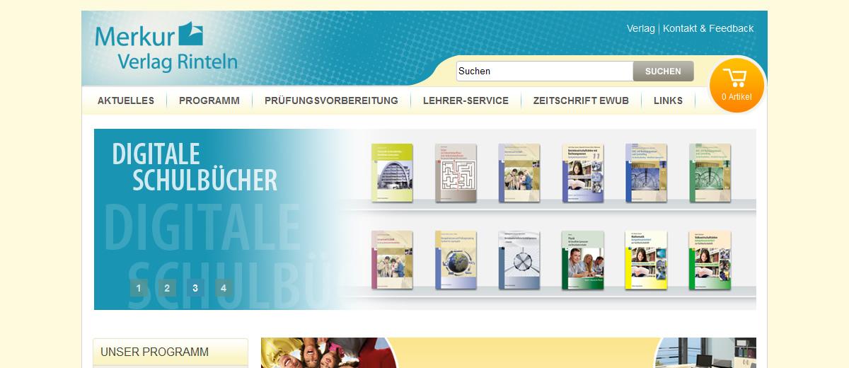 Projekte - Merkur Verlag - Webshop Internetpräsenz - Wirth & Horn Informationssyteme