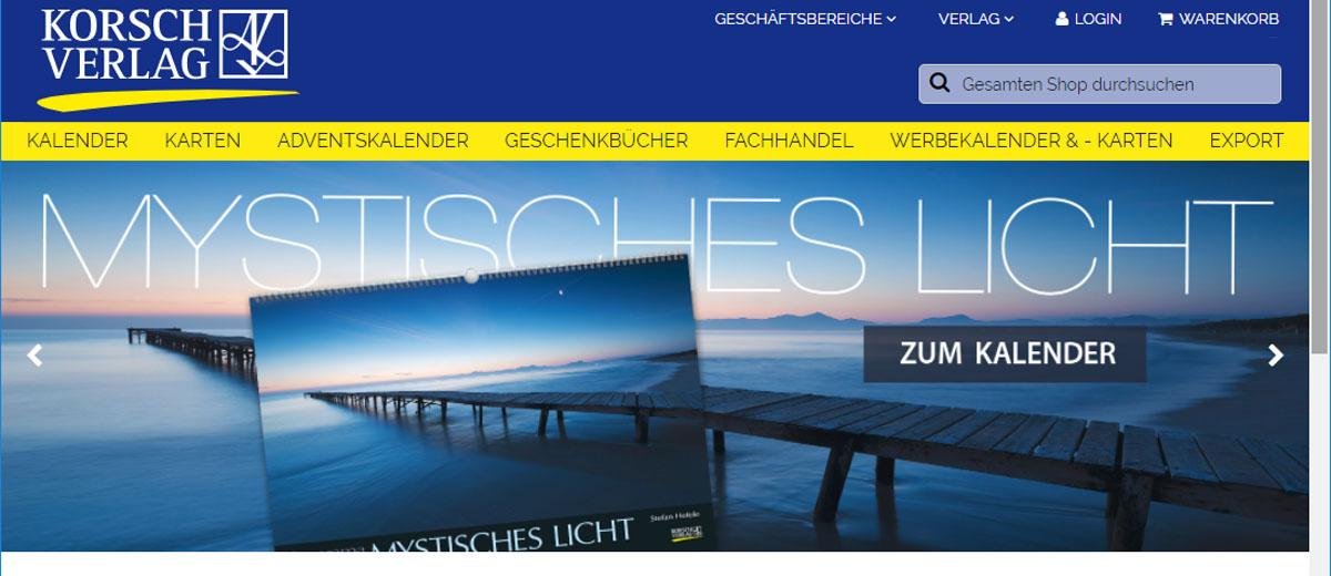 Korsch Verlag Relaunch Webshop
