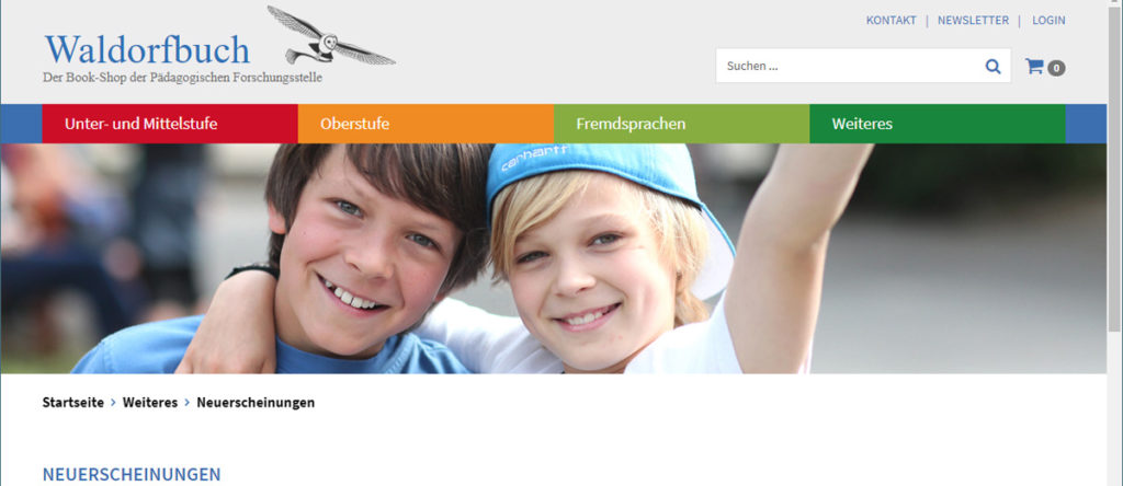 Waldorfbuch: Relaunch Webshop