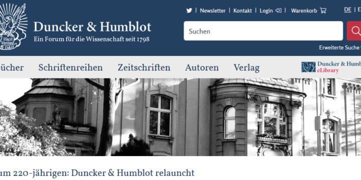 duncker-humblot webshop