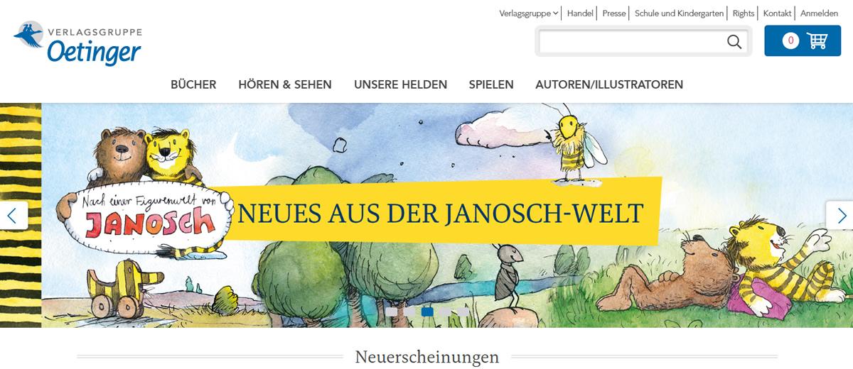 Verlagsgruppe Oetinger - Relaunch Webshop