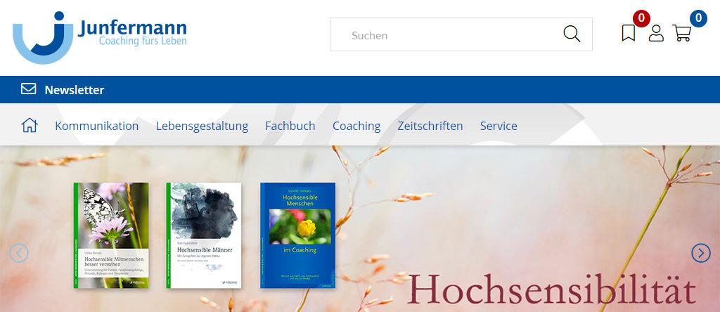 Junfermann Verlag - Relaunch Webshop