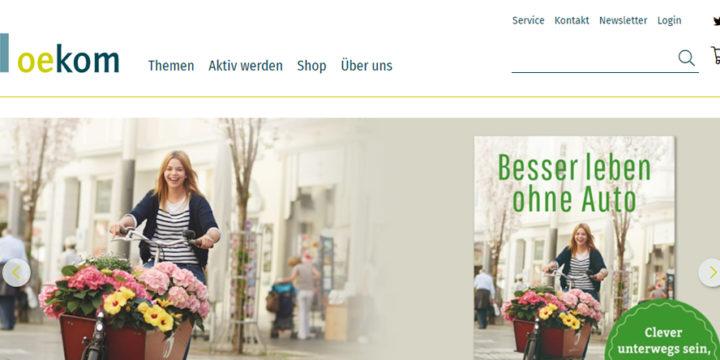 oekom - relaunch webshop
