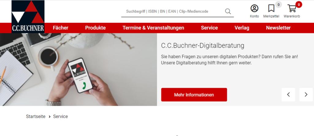 C.C.Buchner Relaunch Webshop